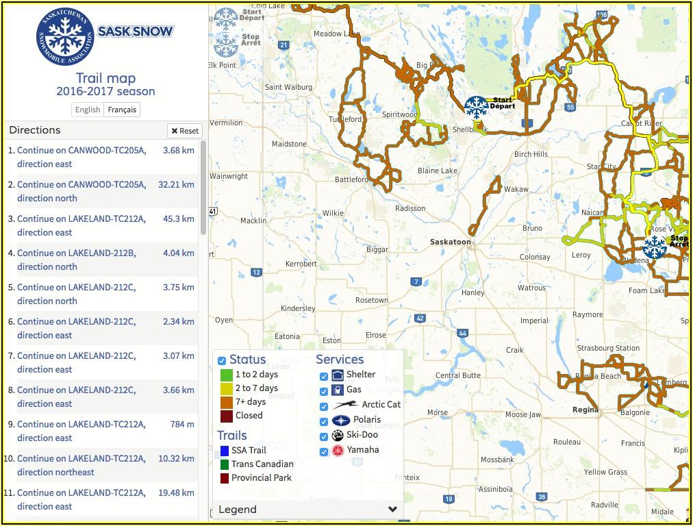 Saskatchewan Snowmobile Trail Gps Maps