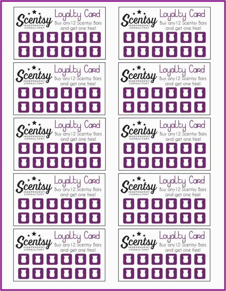 Scentsy Business Card Template Free