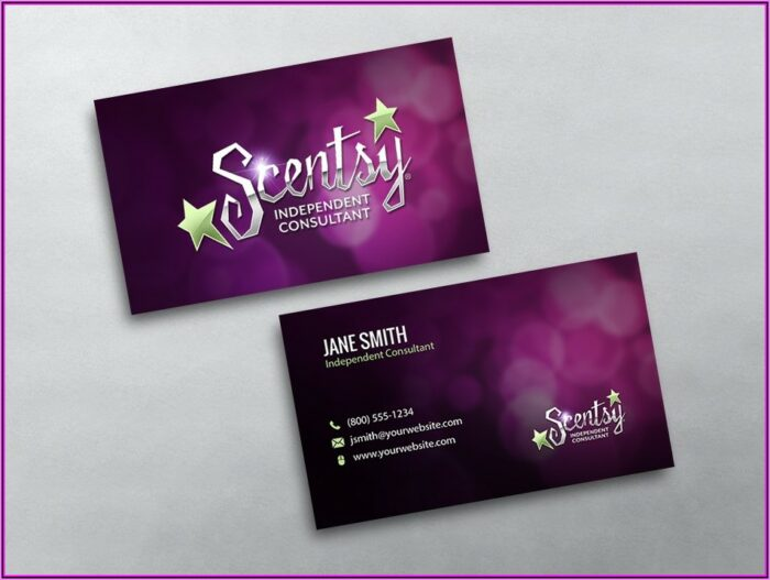 Scentsy Pyo Business Cards Template