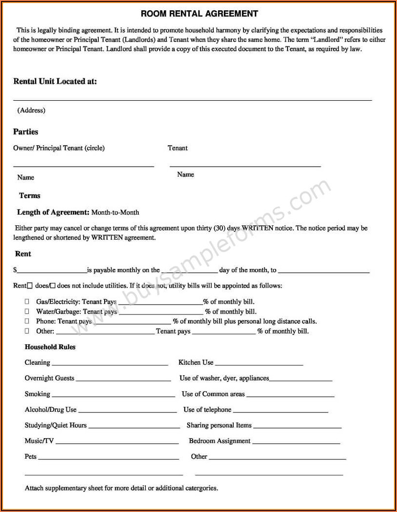 Simple Rental Agreement Form