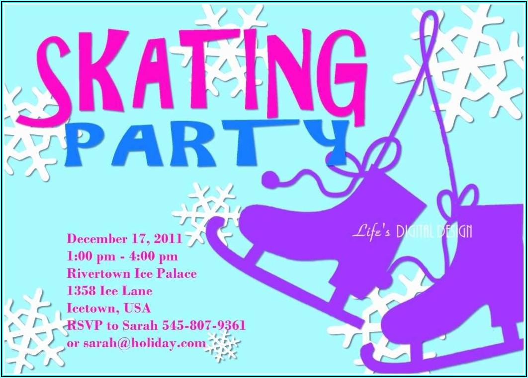 Skating Party Invitations Templates