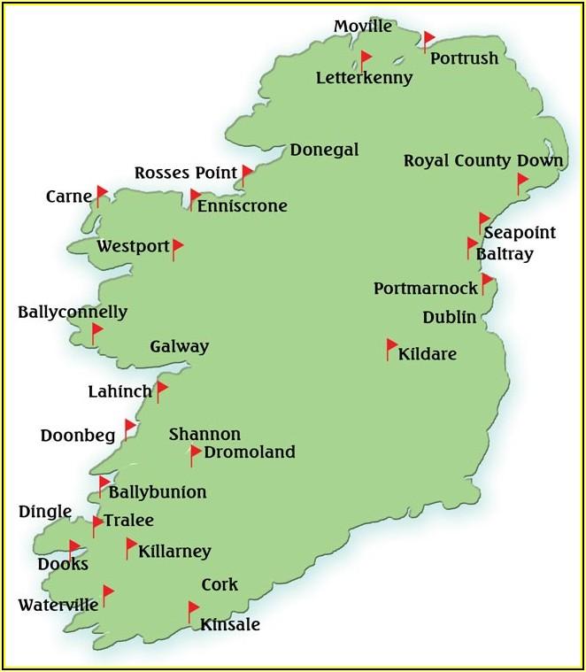 Southwest Ireland Golf Course Map