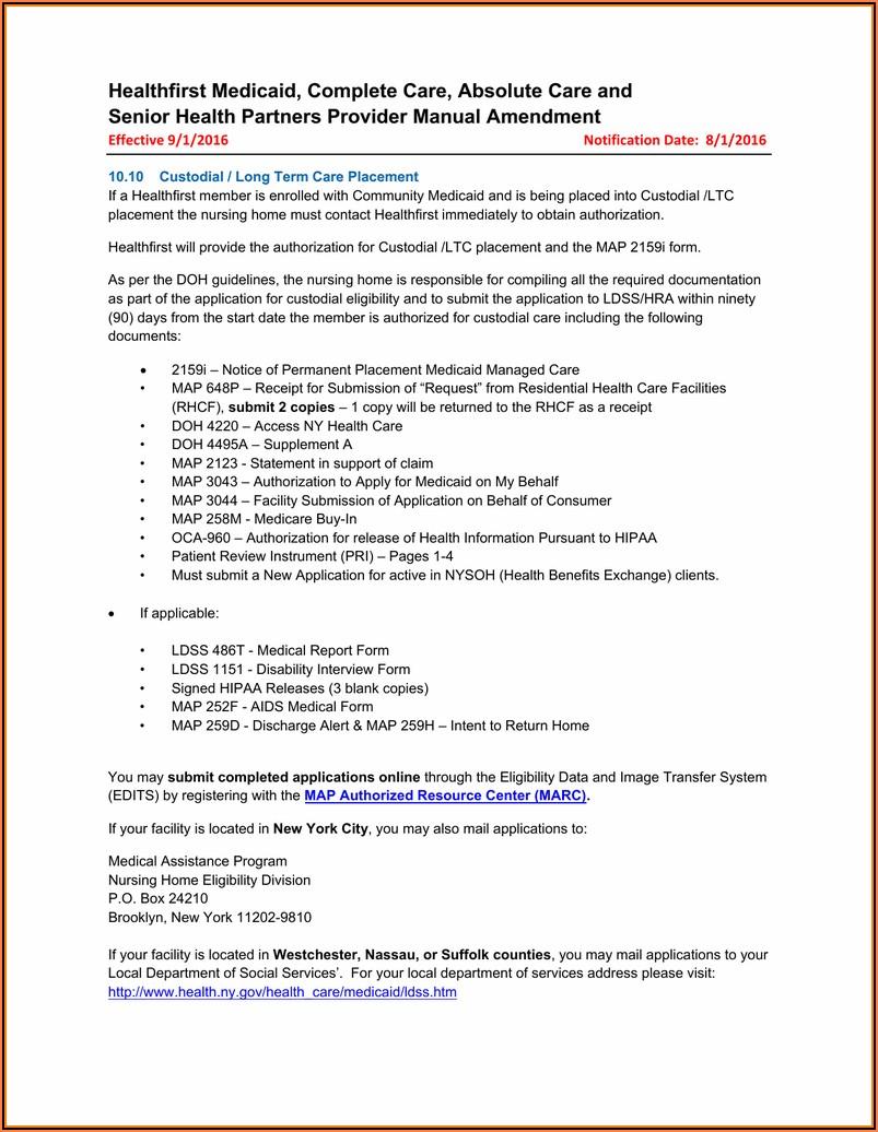Suffolk County Medicaid Application Form