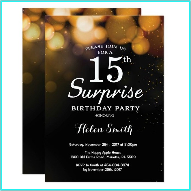Surprise Birthday Invitation Maker