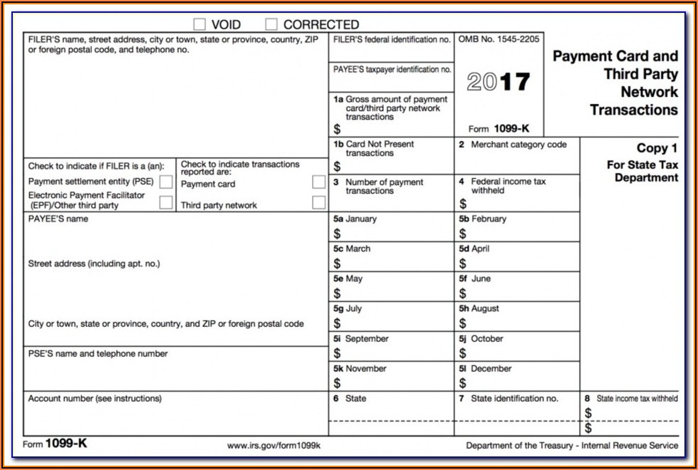 Tax Filing 1099 Form