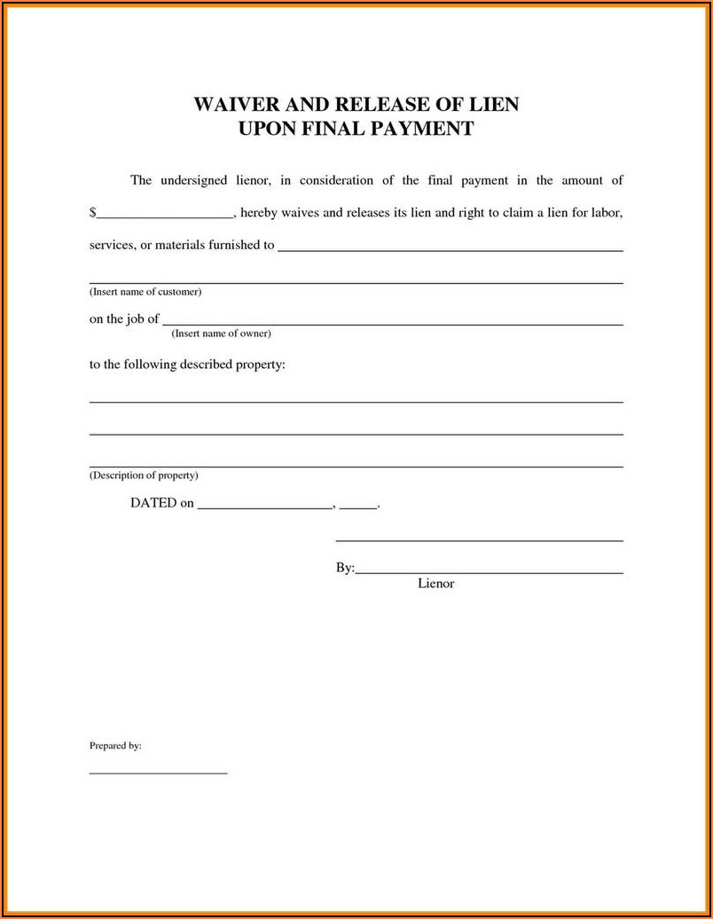 Texas Notice Of Intent To Lien Form