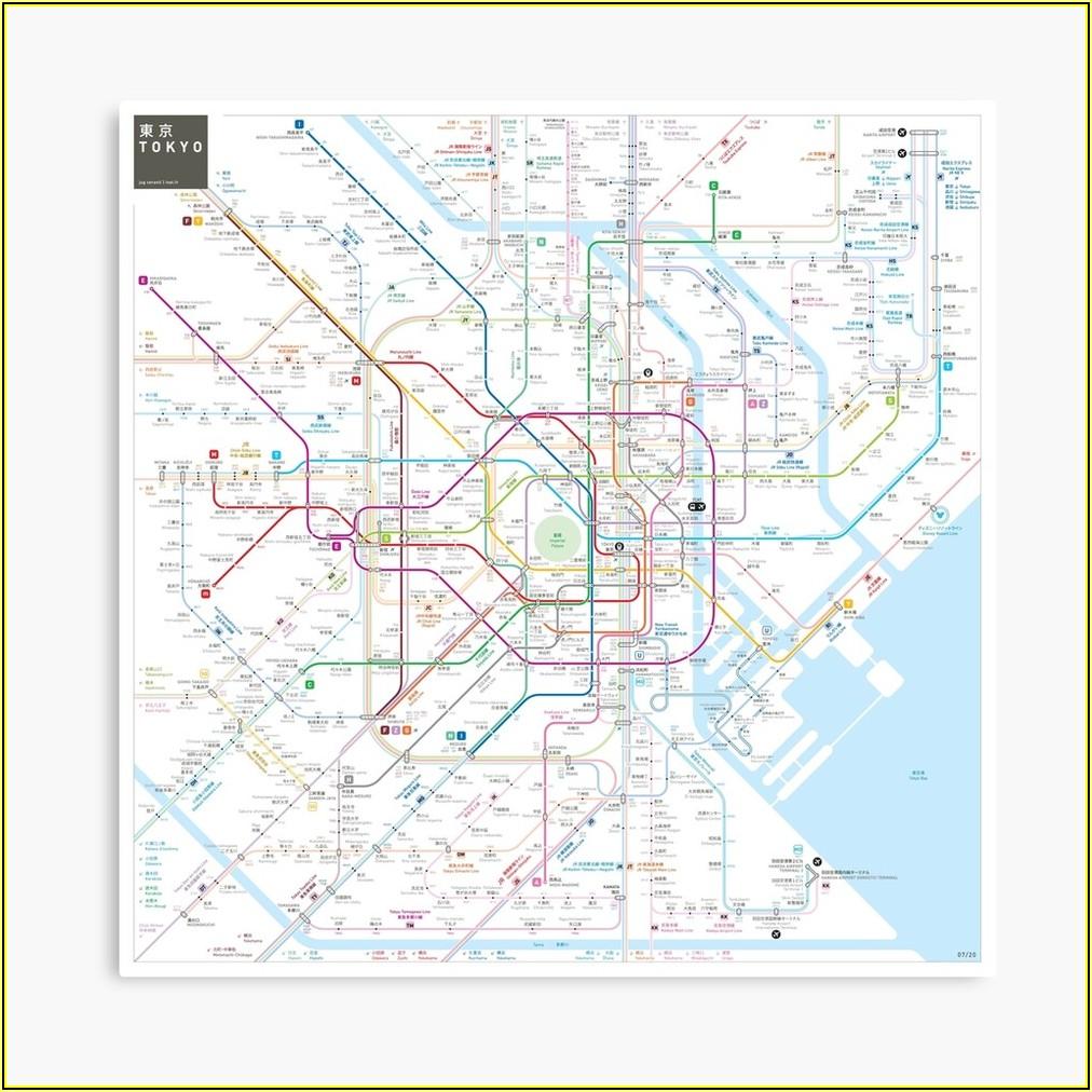 Tokyo Metro Map Poster
