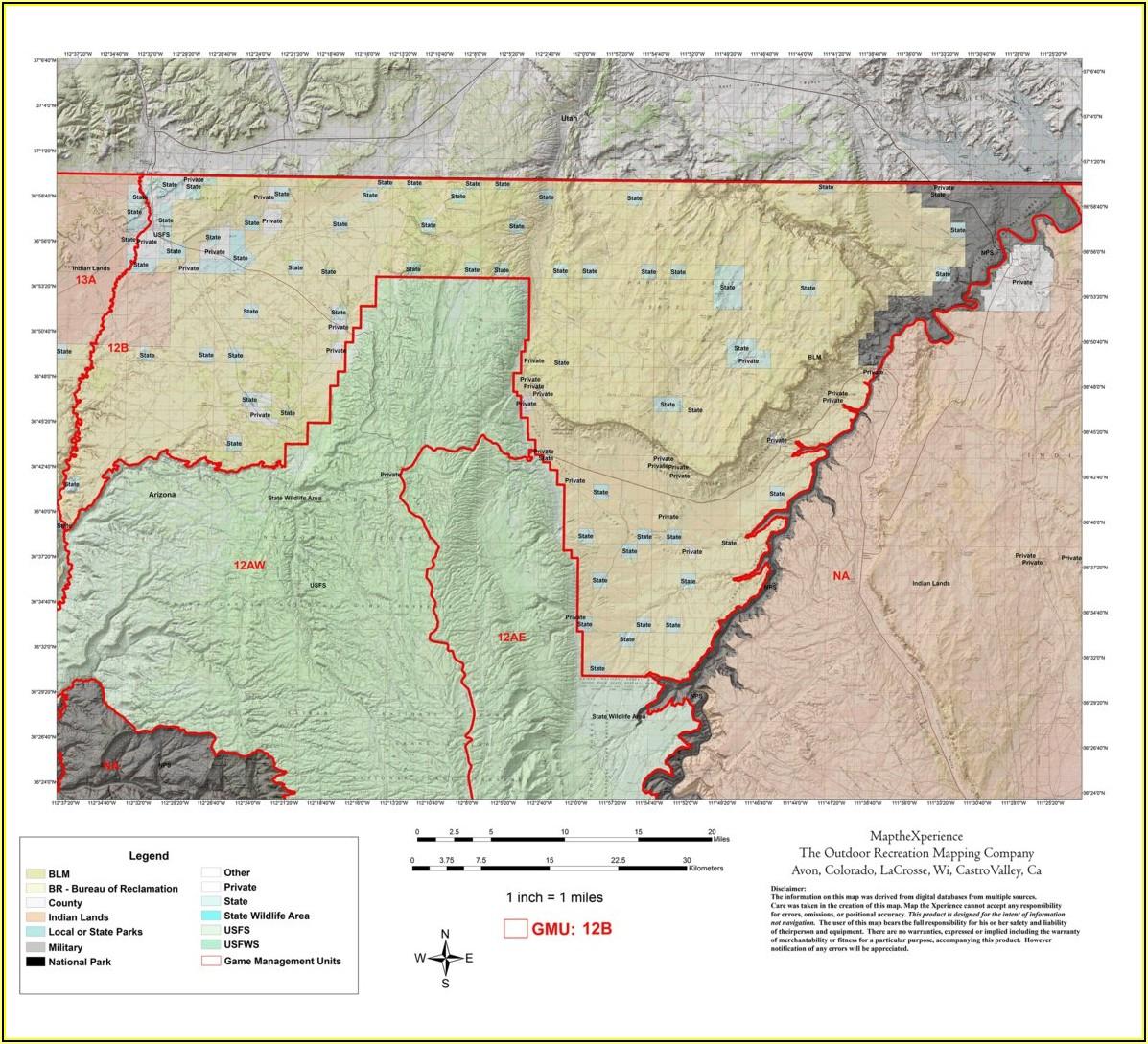 Topo Map Arizona Strip