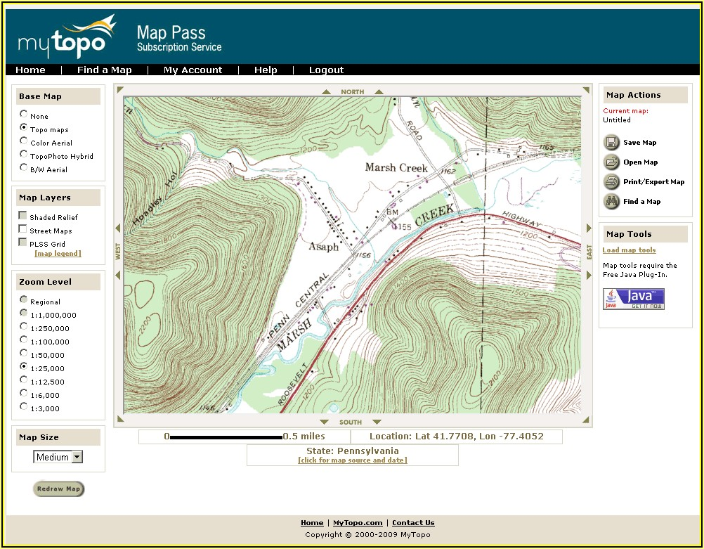 Topographic Map Software