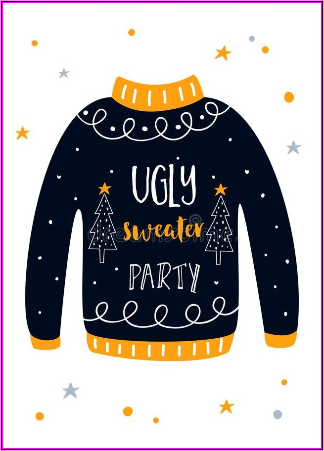 Ugly Christmas Sweater Party Template