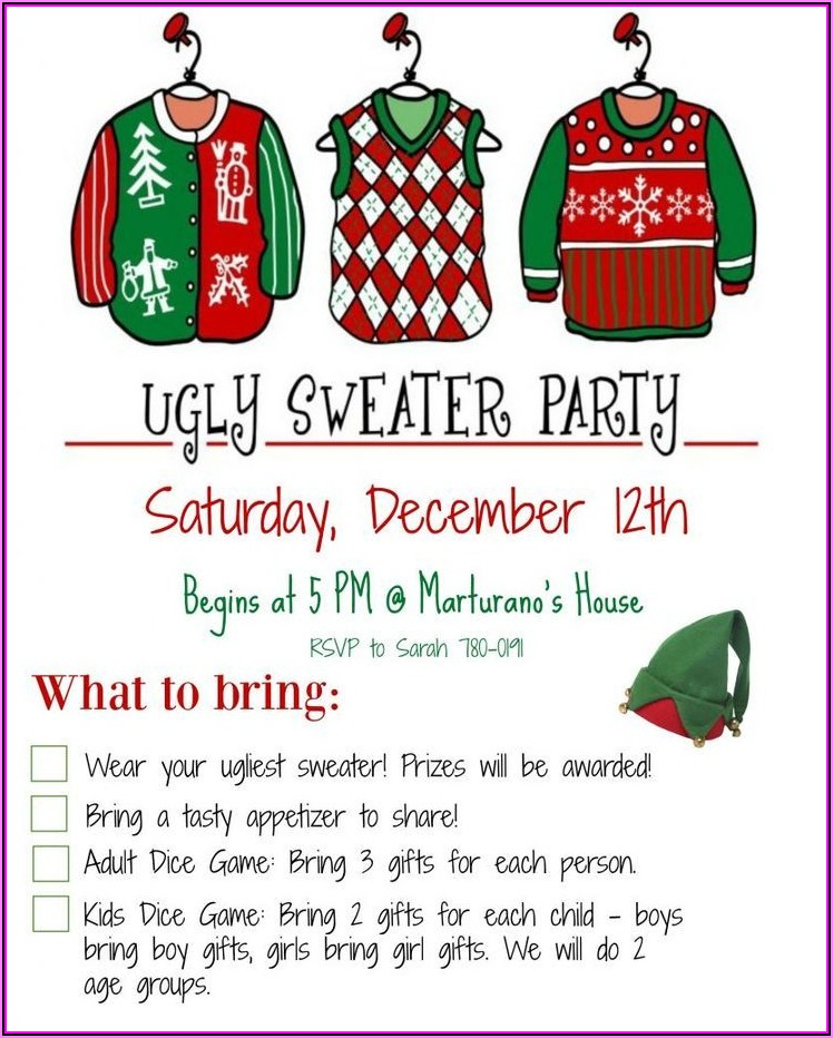 Ugly Sweater Party Email Template