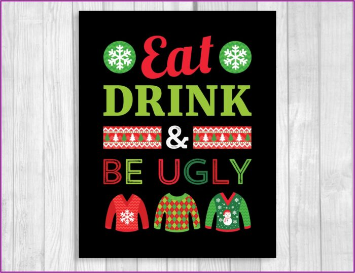 Ugly Sweater Party Printable