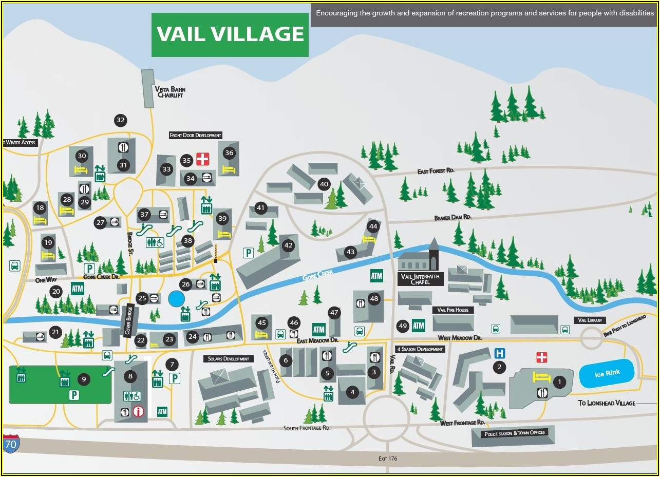 Vail Colorado Hotel Map