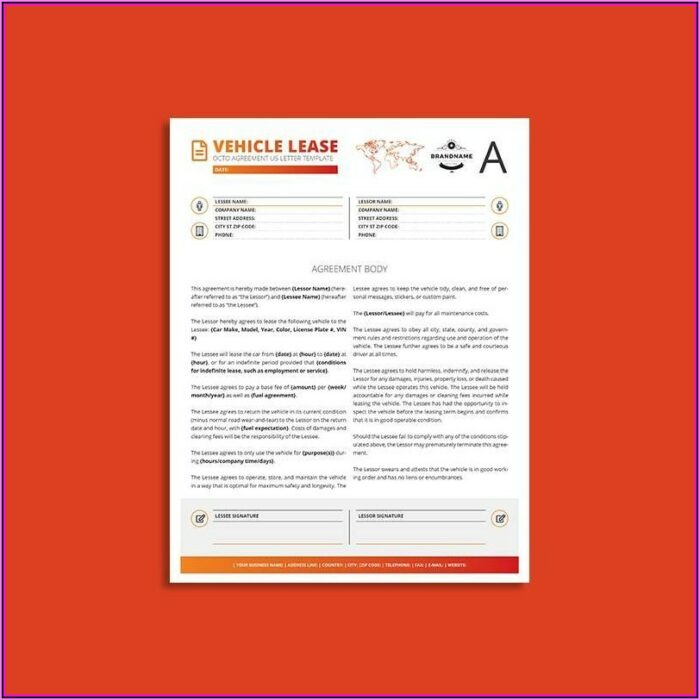 Vehicle Lease Template