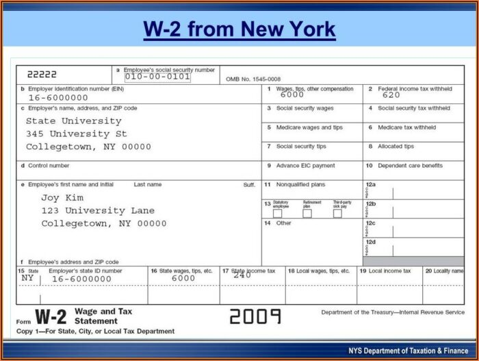W2 Form Nys