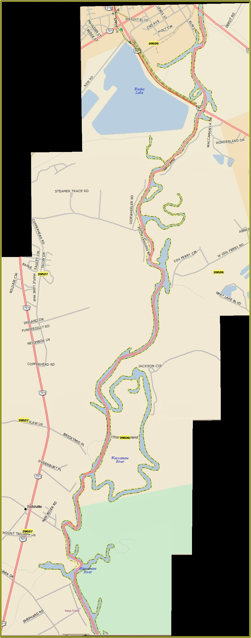 Waccamaw River Nautical Map