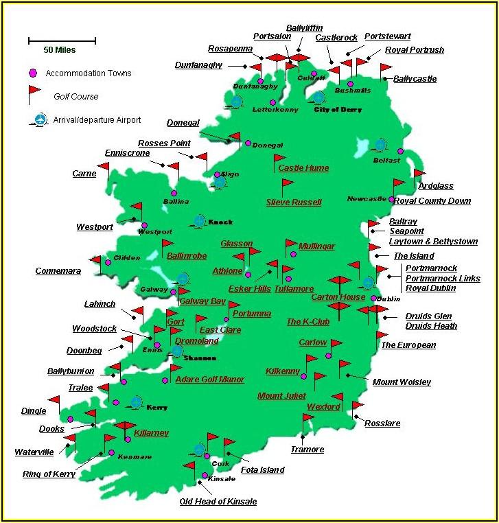 Western Ireland Golf Course Map