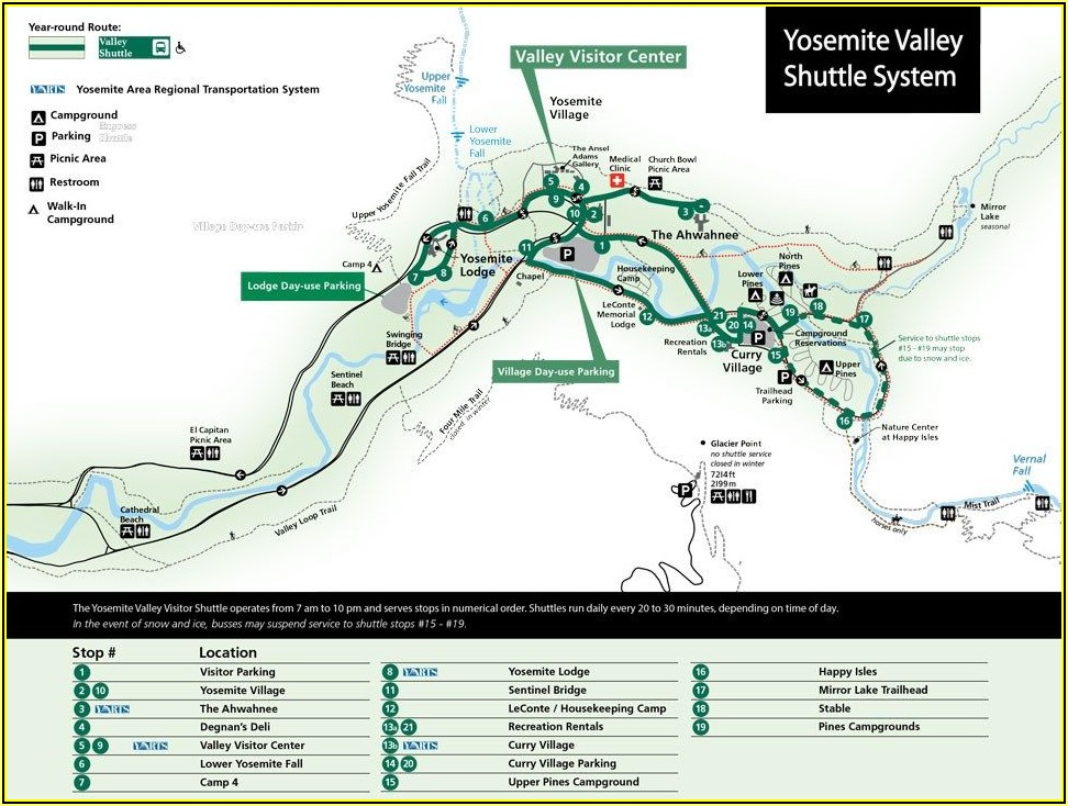 Yosemite Valley Hotel Map