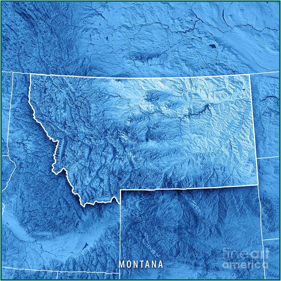 3d Topographic Map Montana