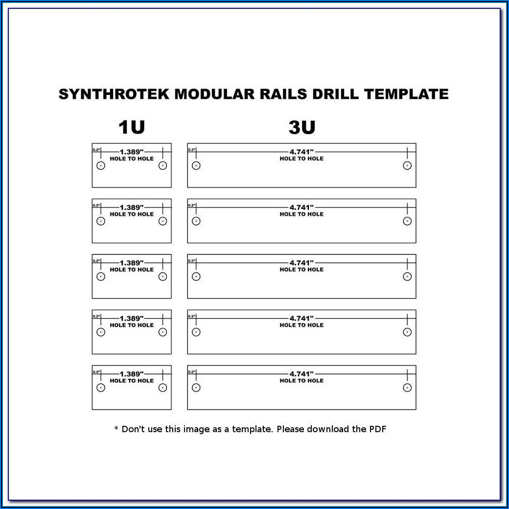 5 Hole Drill Template