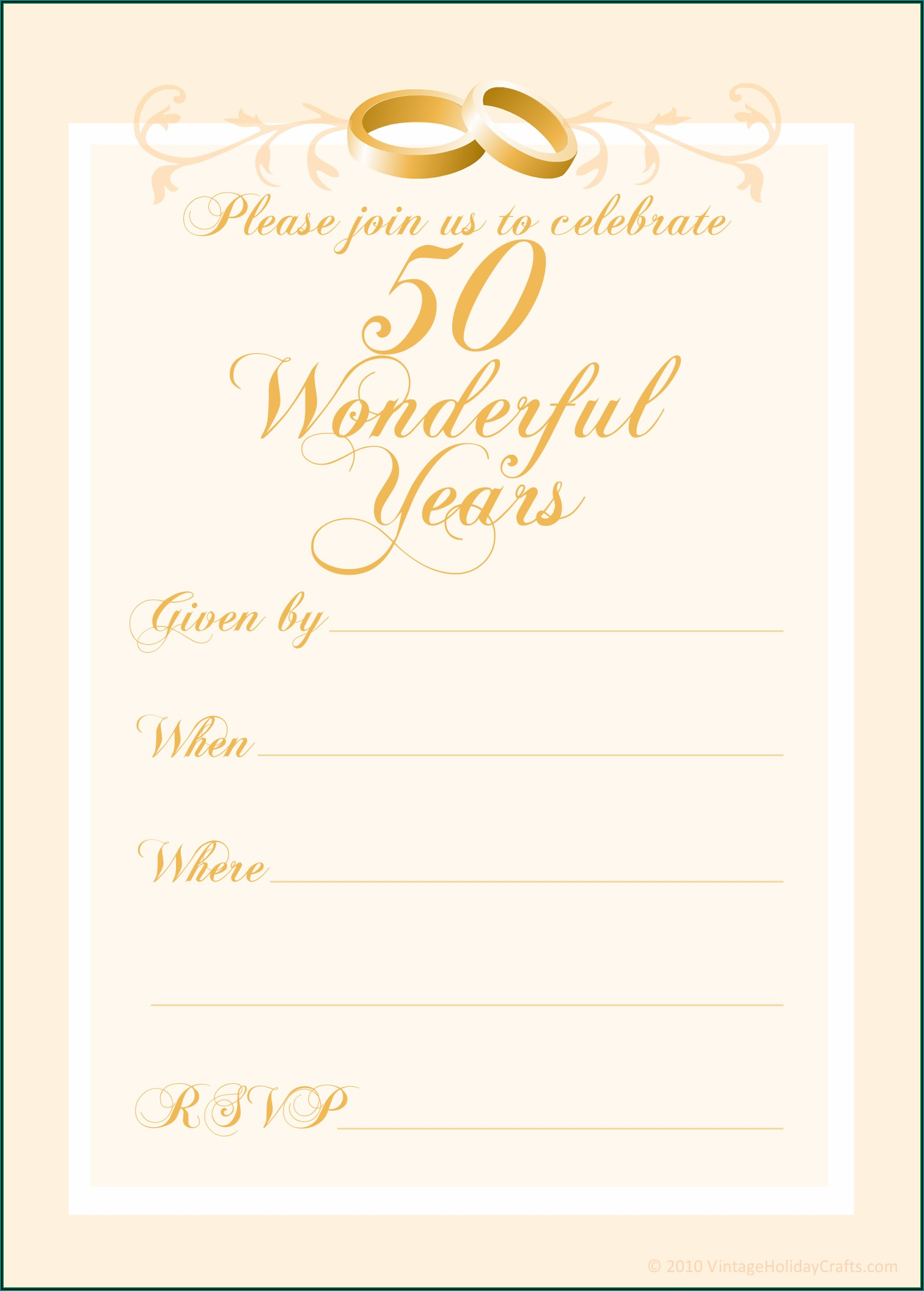 50th Anniversary Powerpoint Template Free