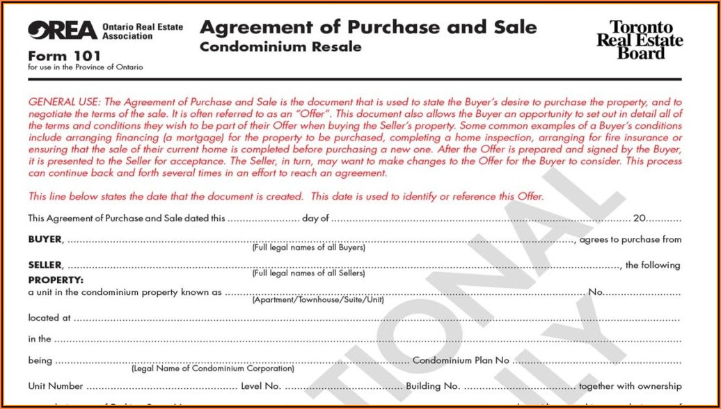Agreement To Lease Residential Ontario Form 400