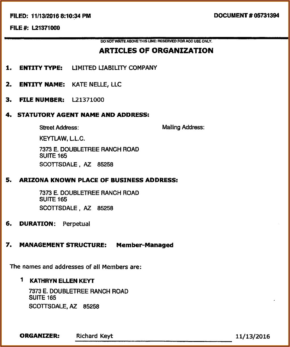 Arizona Corporation Llc Forms