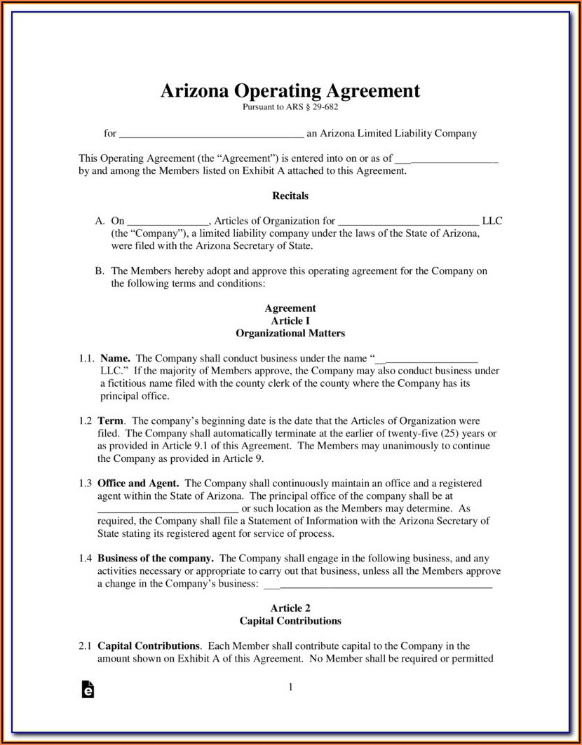 Arizona Llc Forms