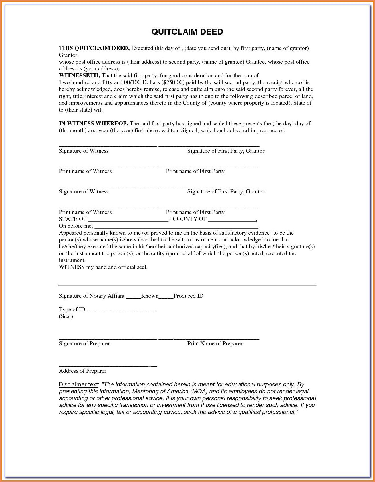 Arkansas Quitclaim Deed Form Pdf