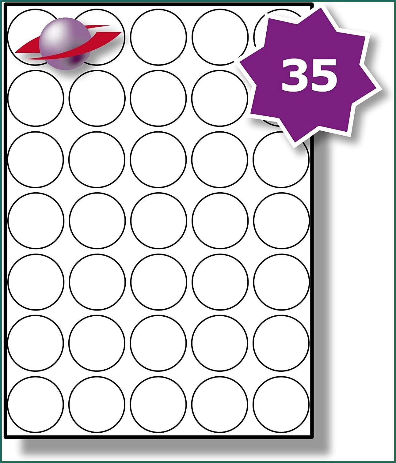 Avery E3613 Printable Round Stickers Template