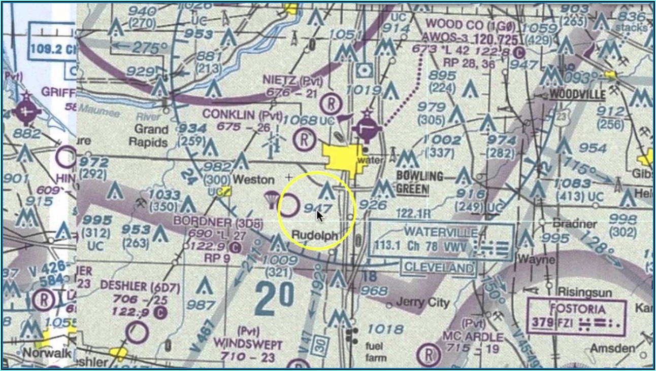 Aviation Sectional Maps Legend