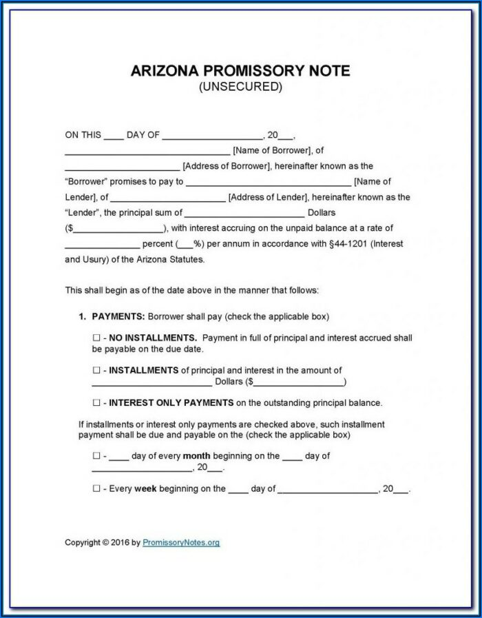 Ca Promissory Note Form
