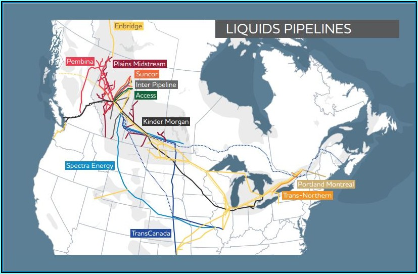 Canadian Oil And Gas Pipeline Map