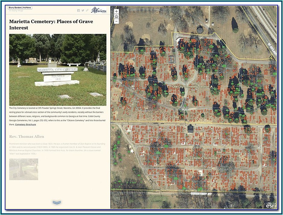 Cemetery Mapping App