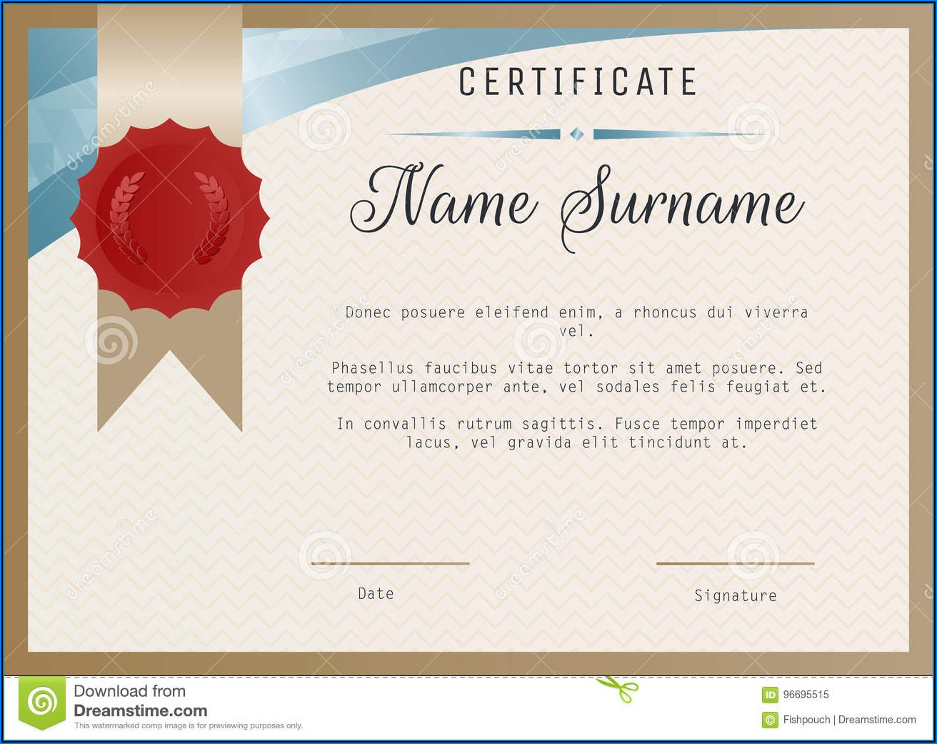 Certificate Seal Template Vector