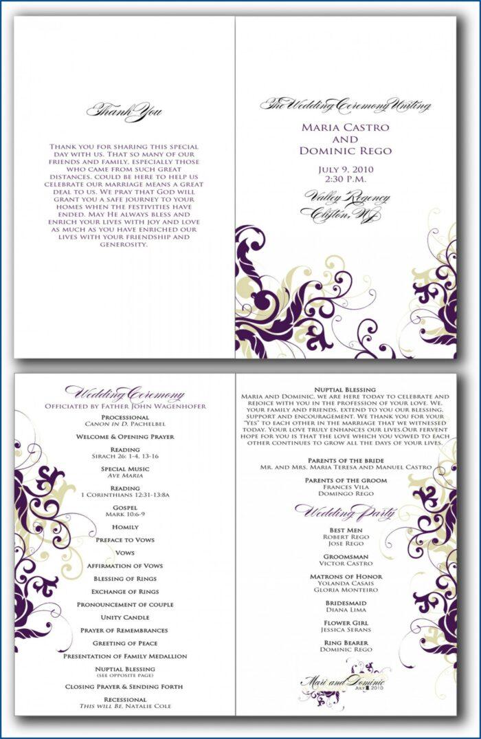 Church Event Program Sample