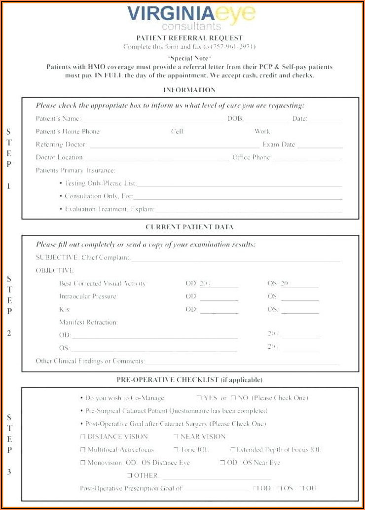 Dental Patient Forms Template