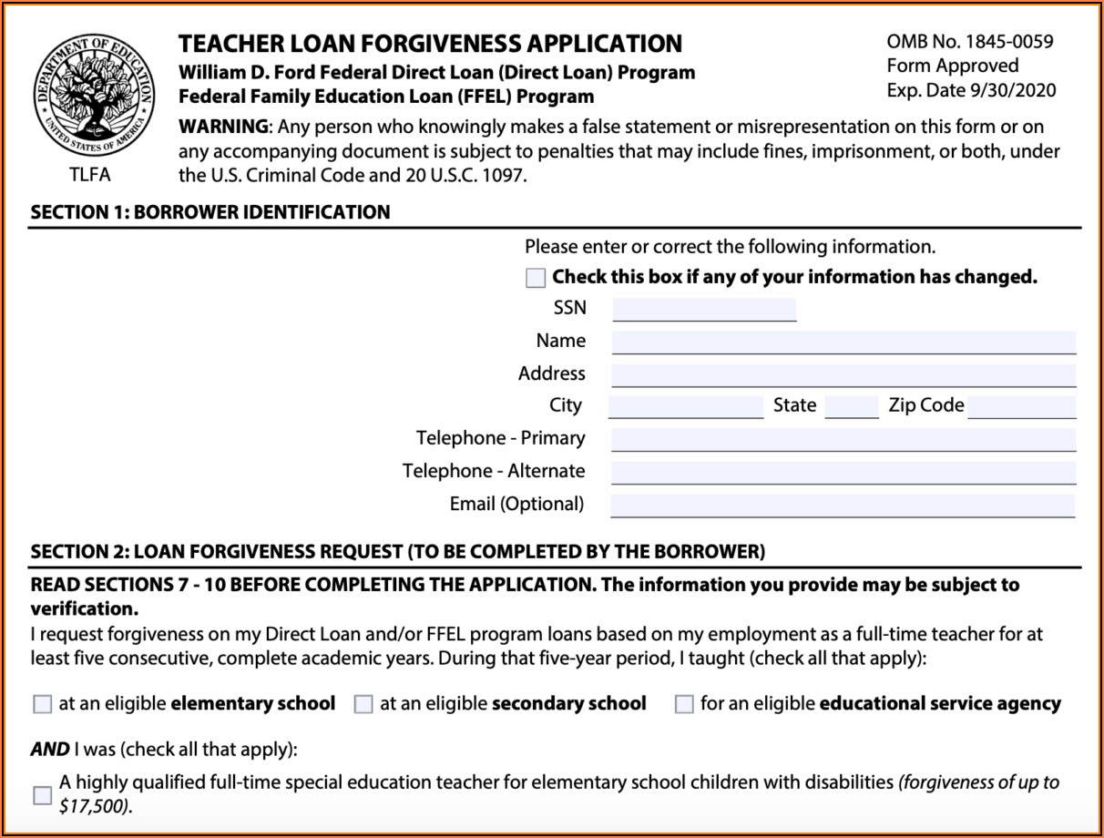 Disability Form For Student Loan Forgiveness