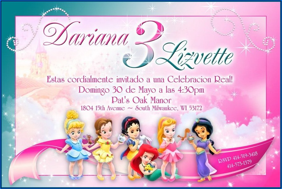 Disney Princess Invitations Free Templates