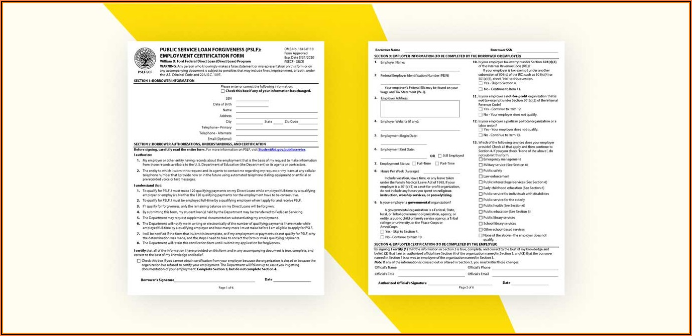 Employment Certification Form For Student Loan Forgiveness