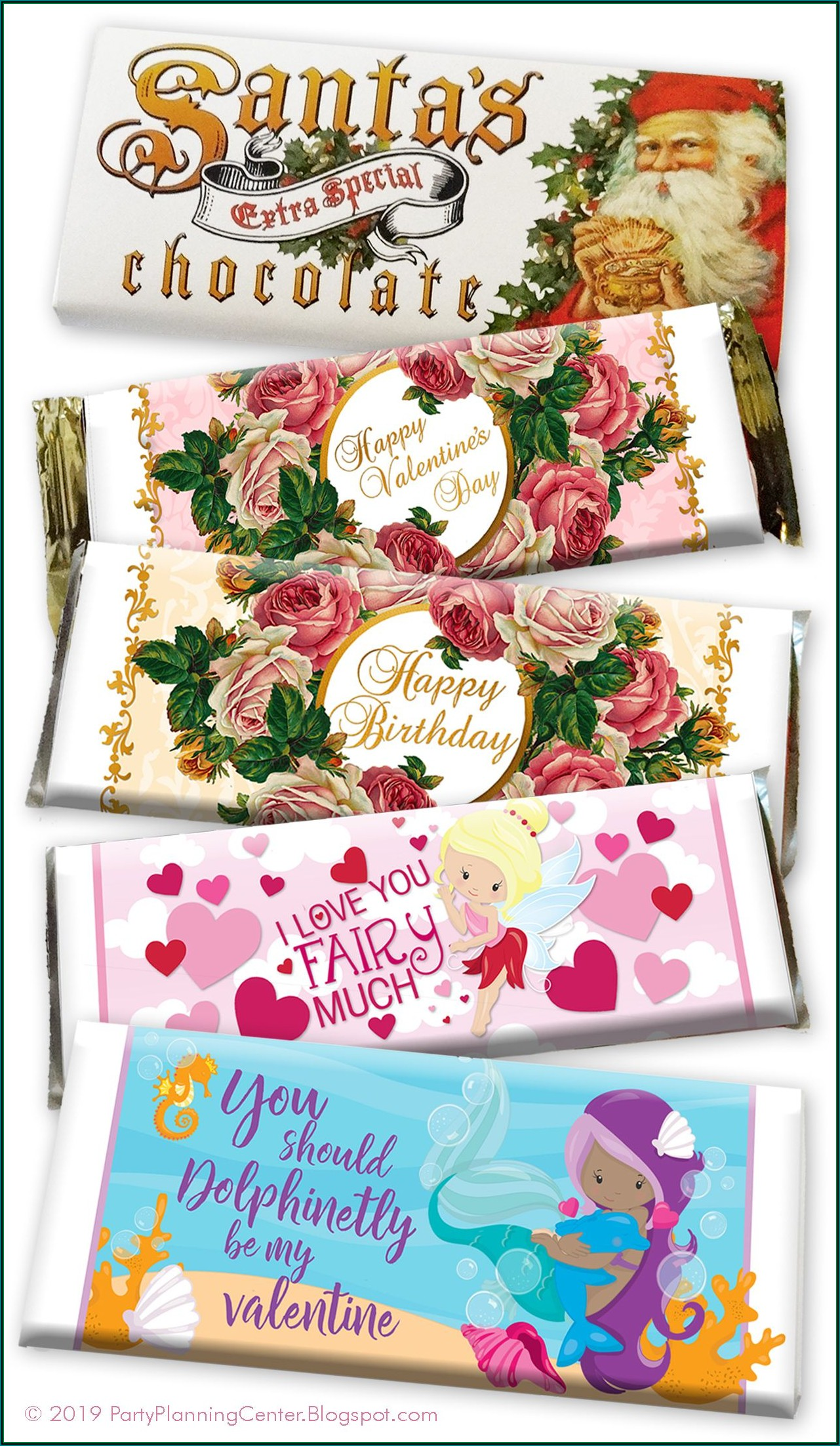 Free Birthday Chocolate Bar Wrapper Template