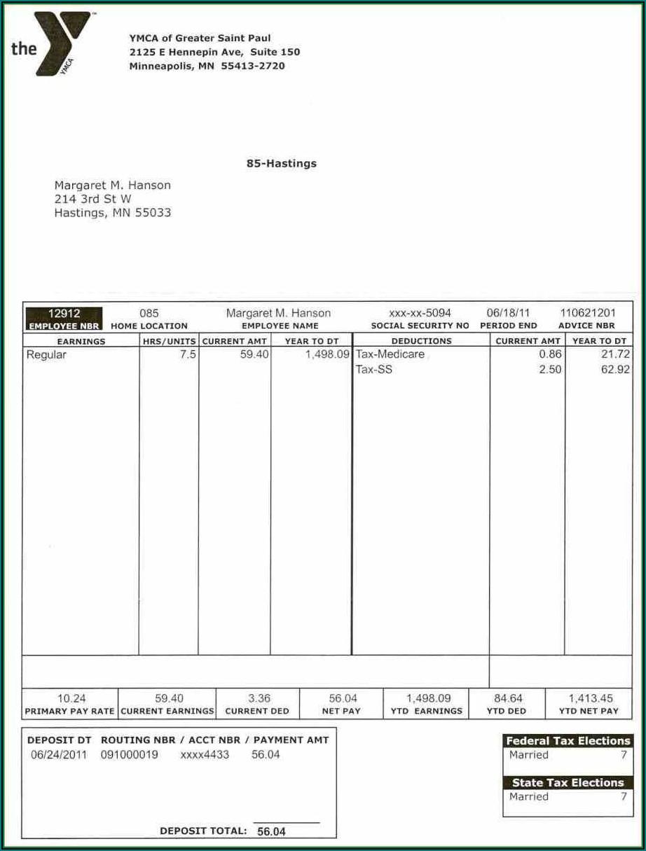 Free Blank Check Stub Format