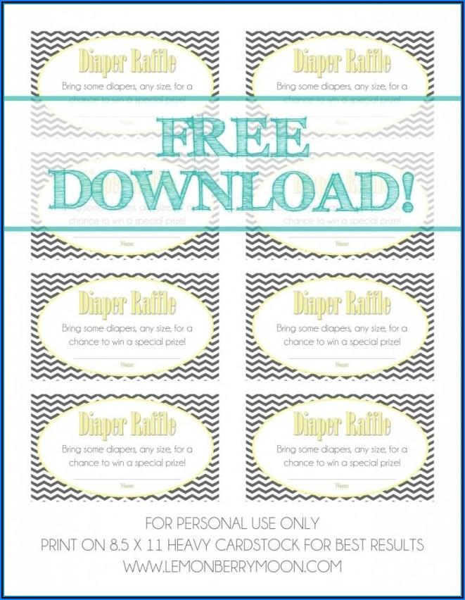 Free Diaper Raffle Template