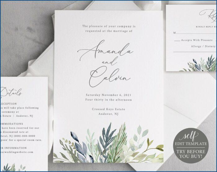 Free Editable Wedding Invitation Template