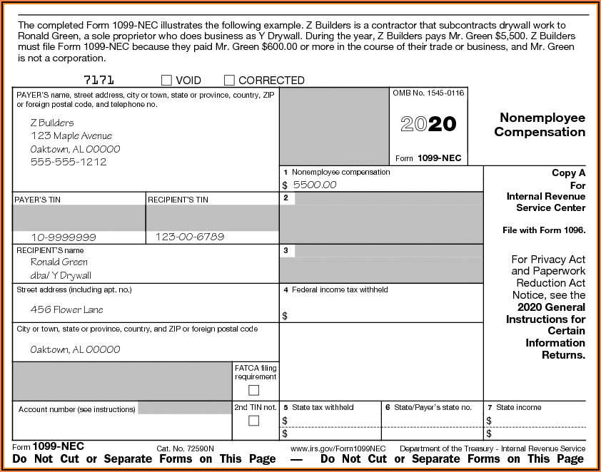Free Fillable 1099 Misc Form 2019 Template