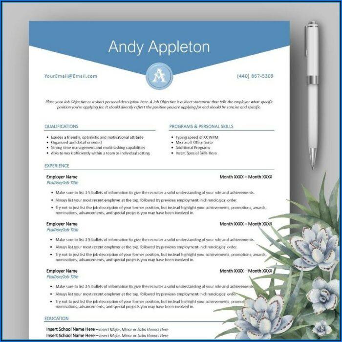 Free Monogram Resume Template