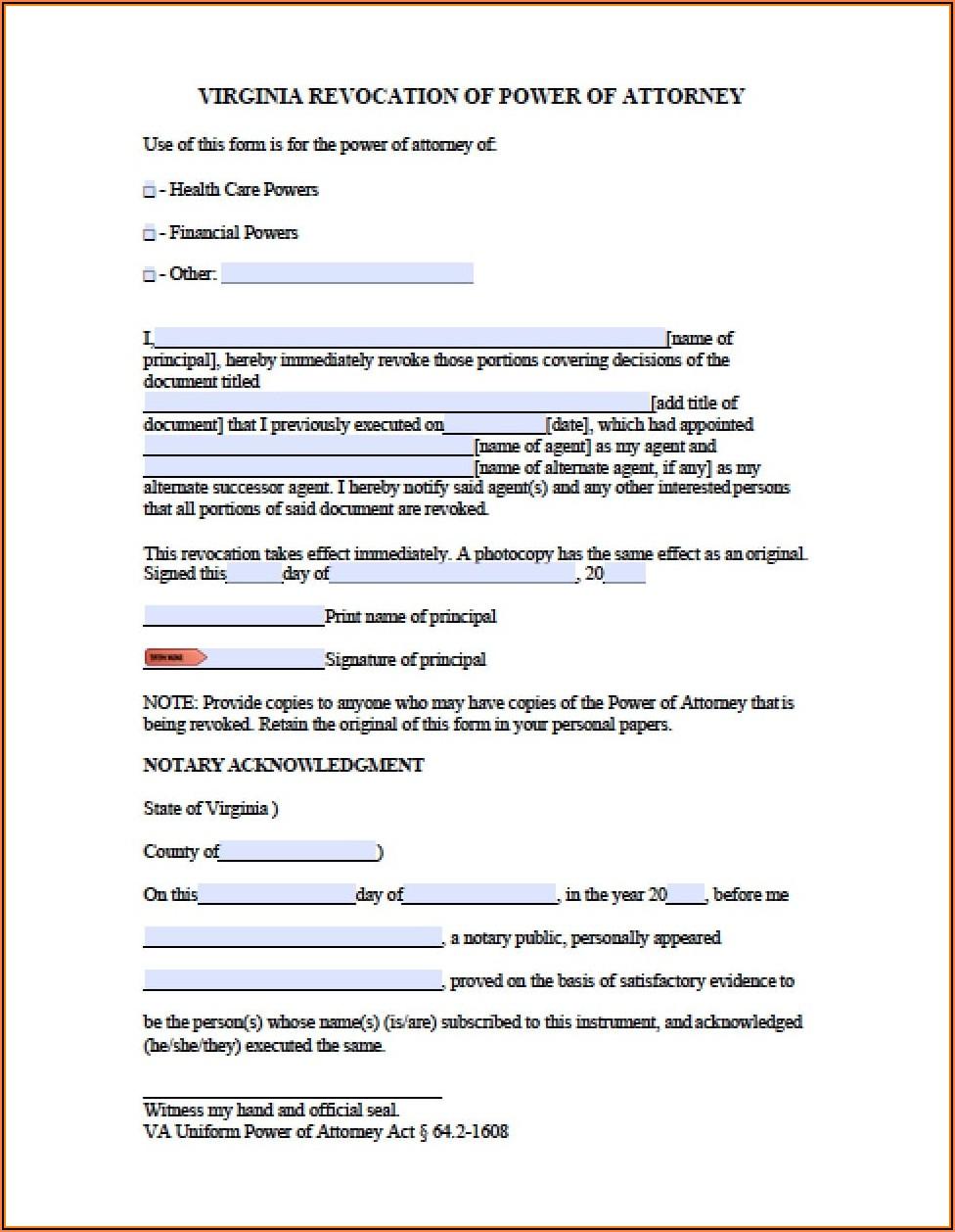 Free Poa Revocation Form