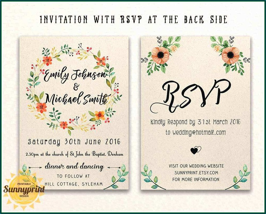Free Postcard Wedding Invitation Templates
