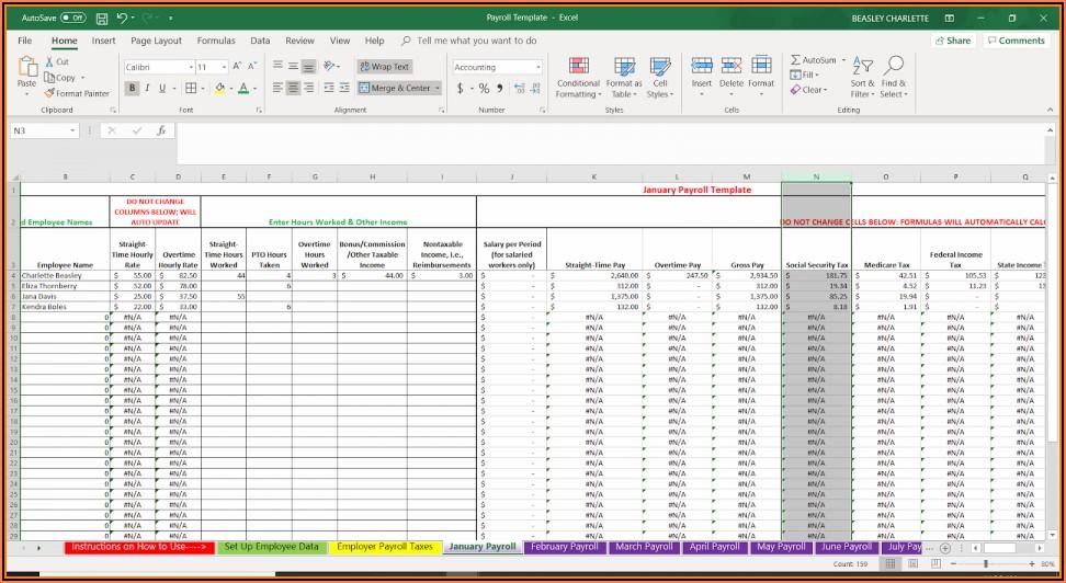 Free Printable Employee Payroll Forms