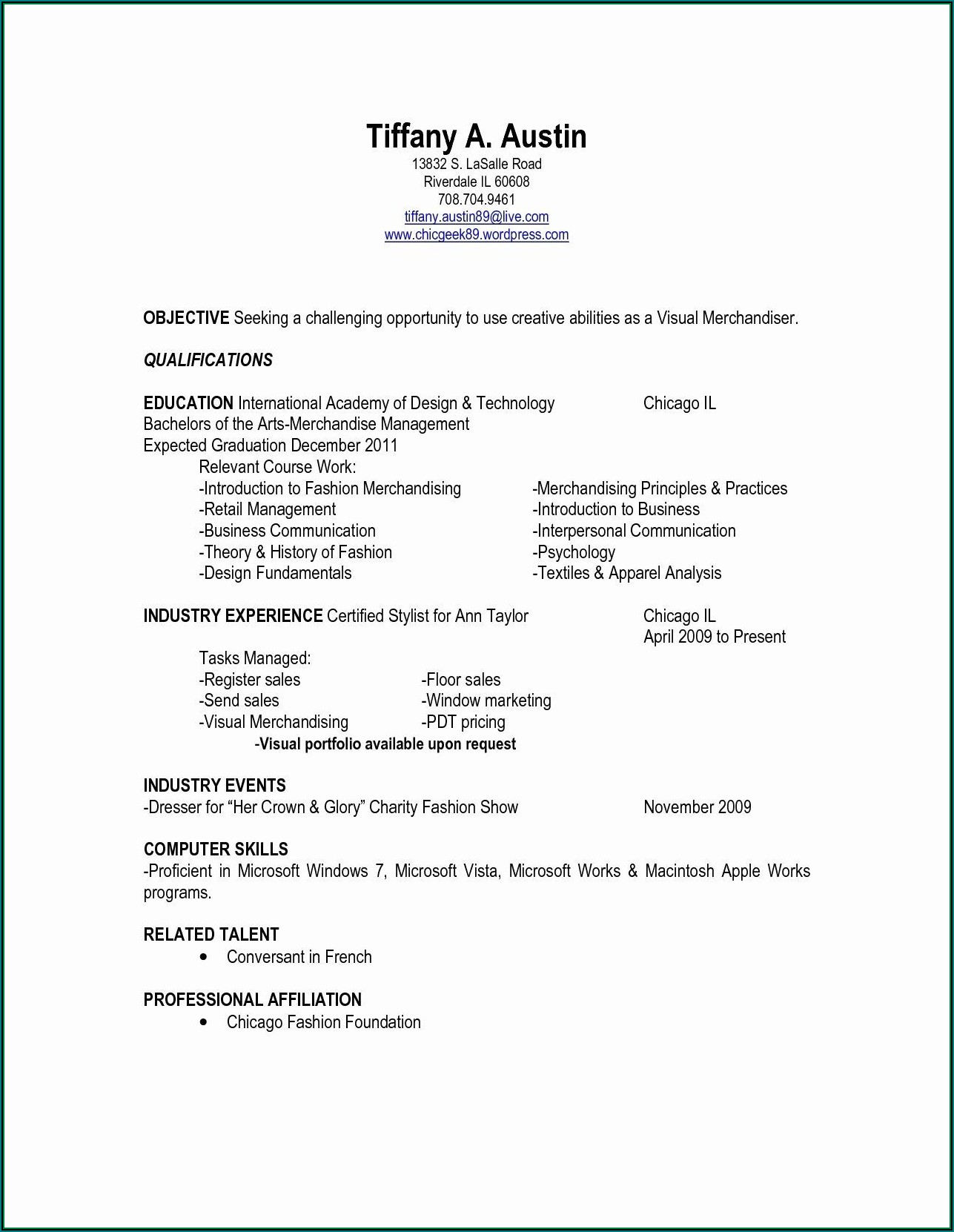 Free Resume Templates For Windows 7